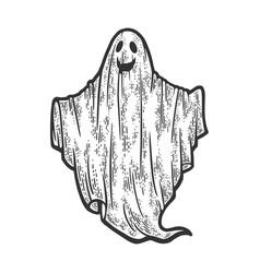 Sheet ghost sketch vector