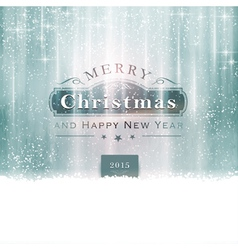 Silver Blue Christmas Typography vector image