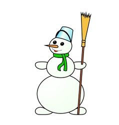 Snowman on a white background vector