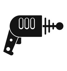 Space blaster icon simple style vector
