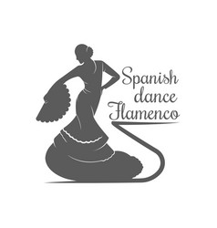 spanish dance flamenco logotype vector image