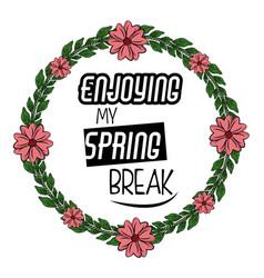 Spring season print design for tshirt vector