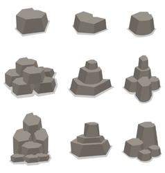 Stone set element art vector