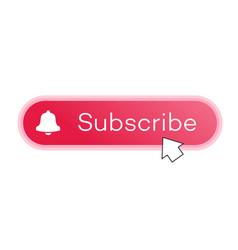 Subscribe button with arrow cursor vector