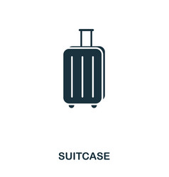 suitcase icon mobile app printing web site icon vector image