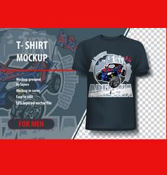t-shirts mock-up with logo arizona grand canyon vector image