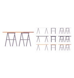 table furniture set vector image