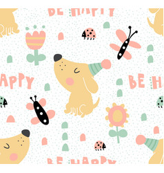 Tender dog pattern vector