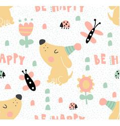 tender dog pattern vector image