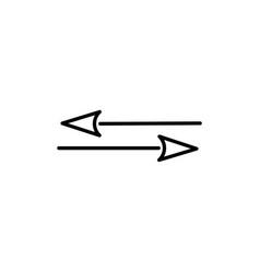 transfer arrows icon vector image