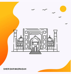 Travel sher dar madrasah poster template vector