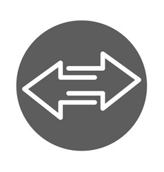 Two arrows pointing in different directions block vector