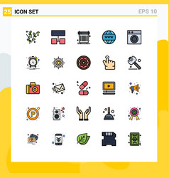 Universal icon symbols group 25 modern filled vector