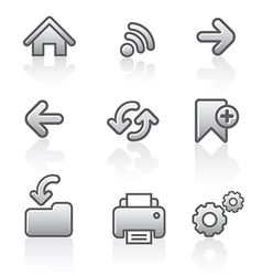 Web navigation icon set vector
