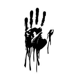 black bloody hand graphic vector image