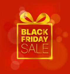 black friday sale concept golden logo on red vector image