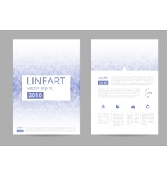 brochure flyer design layout template vector image vector image