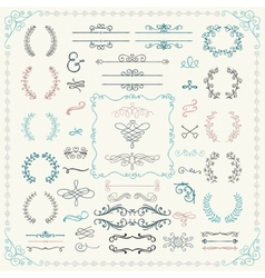 Colorful Hand Drawn Design Elements vector image vector image