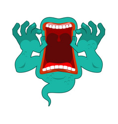 hungry ghost scary ghost spook horrible ghost vector image vector image