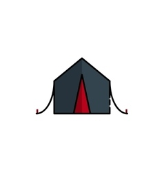 Hunting icon Tent vector image vector image