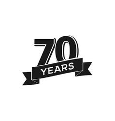 70 years anniversary logotype isolated vector image vector image