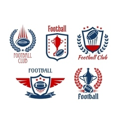American football sport symbols and icons vector image