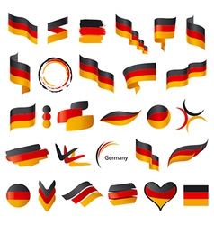 biggest collection of flag of Germany vector image vector image