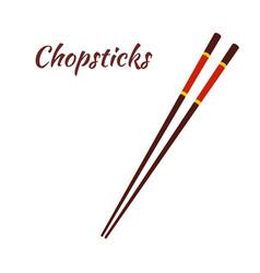 chopsticks for asian food japanese noodles vector image vector image