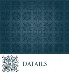 elegant blue vintage seamless wallpaper vector image vector image