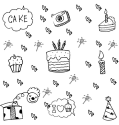 Element party doodle cute vector image vector image