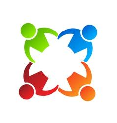 Team Hold 4 Logo Design element vector image