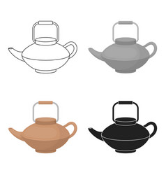 tetsubin icon in cartoon style isolated on white vector image vector image