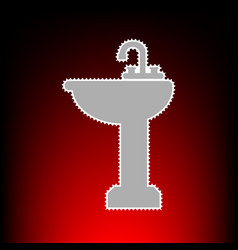 bathroom sink vector image