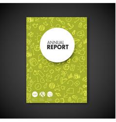 modern brochure book flyer design template vector image