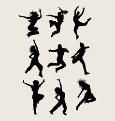 Modern Dancer Silhouettes vector image
