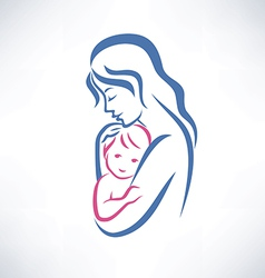 mother and son symbol vector image vector image