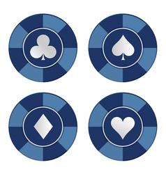 Poker chips set vector image vector image