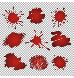 red stains and blots vector image vector image