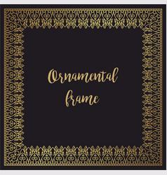 luxury golden frame for invitations design vector image