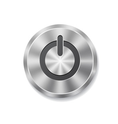 Metal round button on energy vector image