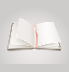Open paper book with the bookmark vector image vector image