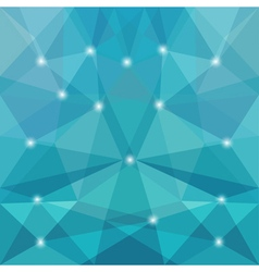 Polygon blue background vector image vector image