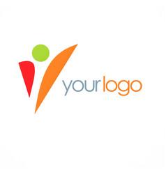 shape success man logo vector image