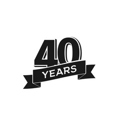 40 years anniversary logotype isolated vector