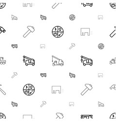 advertising icons pattern seamless white vector image