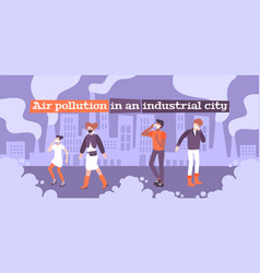 Air pollution mask composition vector