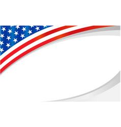 American flag symbol wave pattern frame banner vector