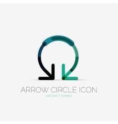 Arrow circle icon company logo business concept vector