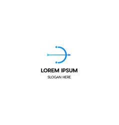 arrow creative logo design vector image