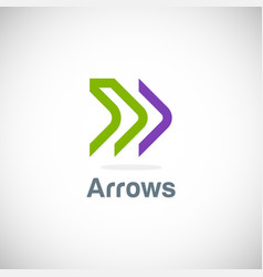 Arrow line forward logo vector